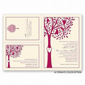 tree love separate and send invitation ann39s bridal bargains With wedding invitations separate and send