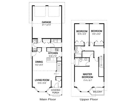 narrow home floor plans single story narrow lot house