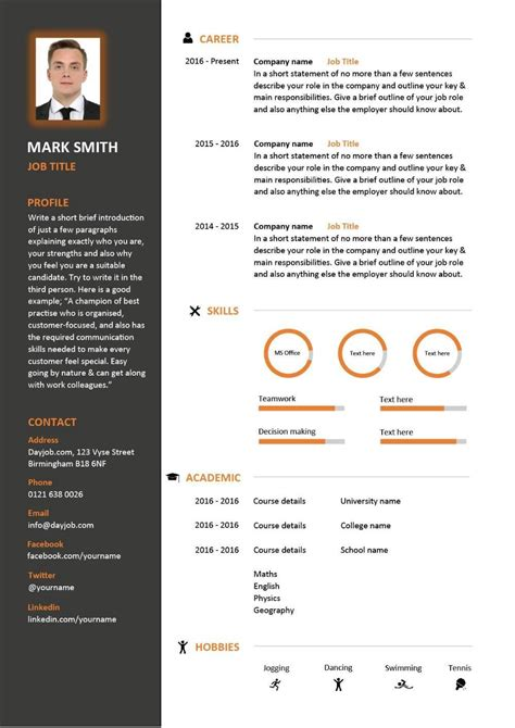 Cv Layout Free by Free Downloadable Cv Template Exles Career Advice How
