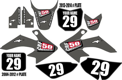 New crf450 2021 honda black style graphics available to customise and order online. Honda CRF 50 Graphic Kit Gray Clean Series
