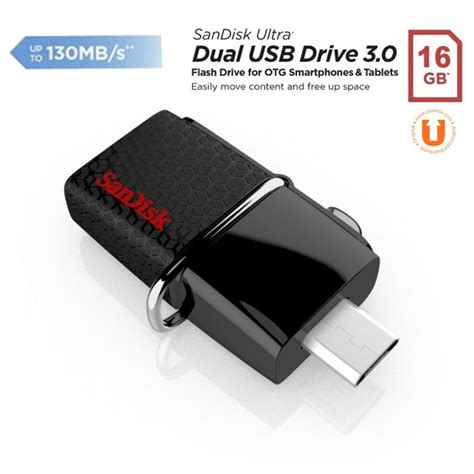 sandisk otg usb 3 0 16gb jual sandisk ultra dual otg usb flash drive usb 3 0 16gb