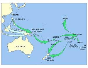 Polynesian migration in Oceania - Full size