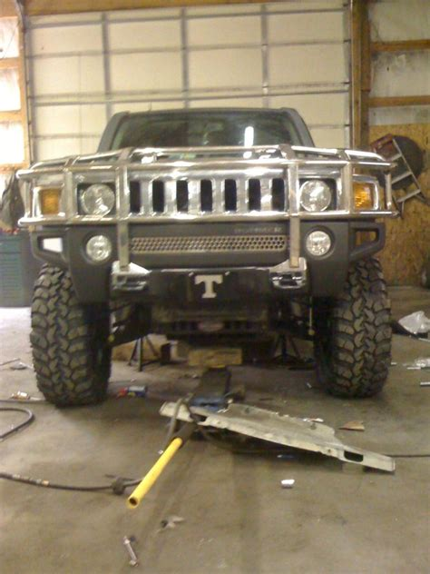 bump stops falling   tuff country lift hummer