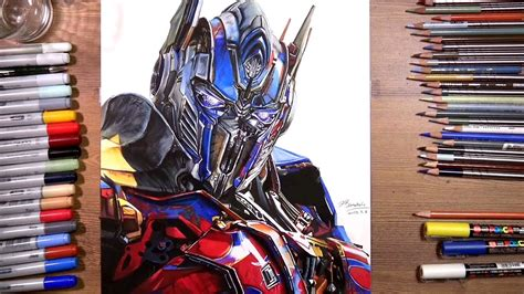 transformers optimus prime speed drawing drawholic