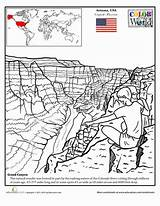 Canyon Grand Coloring Pages Education Worksheets Worksheet Sheets Grade Geography Places Colouring Printable Trip Take Around Drawing Arizona Craft Second sketch template
