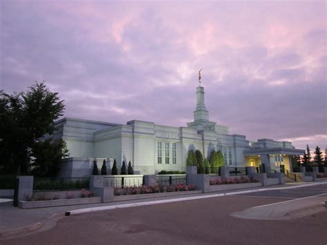 edmonton alberta temple   evening