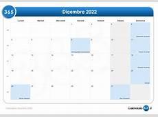 Calendario dicembre 2022