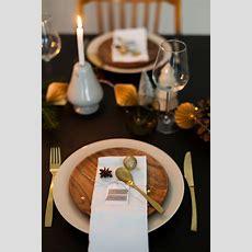Festliche Tischdekoration Zu Weihnachten