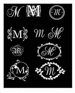 Monogram decal elegant single letter vinyl wall car decal for Single letter monogram