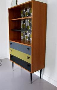 Bibliothèque Peu Profonde : bibliotheque commode annees 60 biou meubles vintage ~ Premium-room.com Idées de Décoration