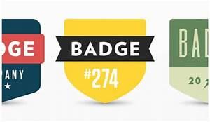 Three flat badges PSD PSD file Free Download