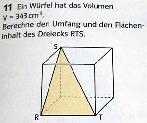 Diagonale Dreieck Berechnen : w rfel fl che und umfang eines dreiecks ausrechnen ~ Themetempest.com Abrechnung