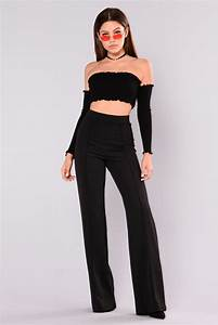 Victoria High Waisted Dress Pants - Black
