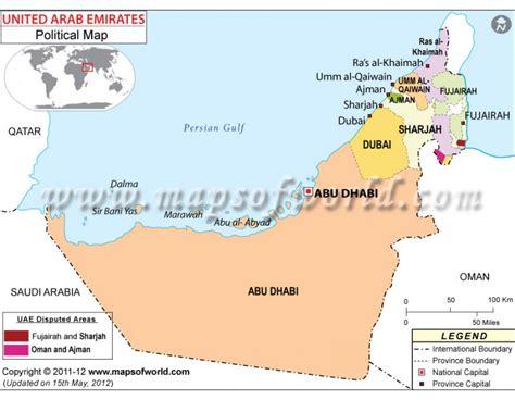 buy political map  uae