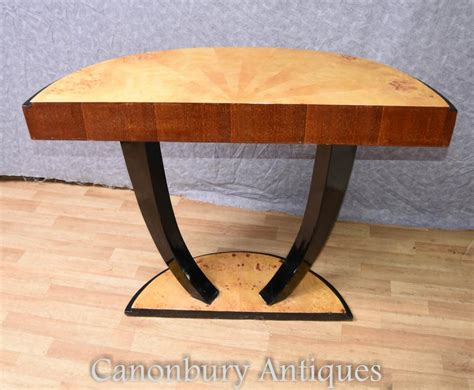 half round hall table art deco console table half round hall tables 1920s ebay