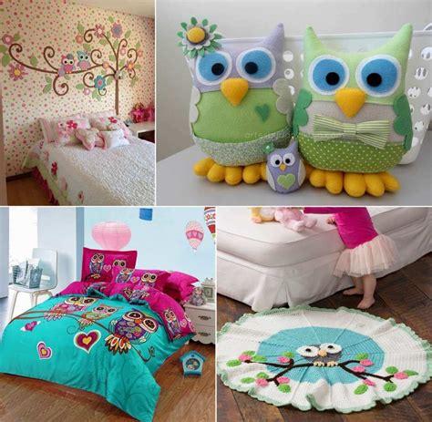 cute ways  decorate  kids room  owl inspiration