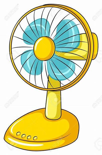Fan Clipart Electric Yellow Clip Ventilator Elektrische
