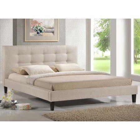 6134 baxton studio king bed baxton studio quincy light beige linen platform bed king