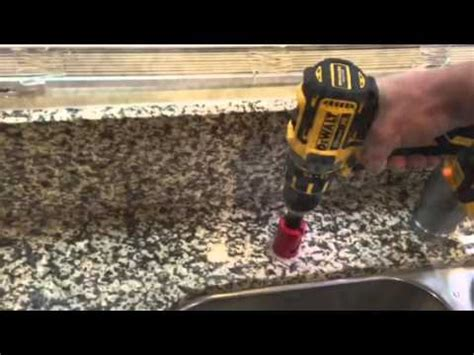 drill granite countertop how to drill a in granite