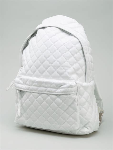 stampd quilted backpack  white  men lyst