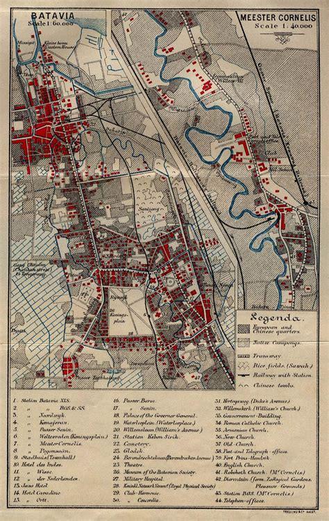 batavia  map jakarta history indonesia sejarah