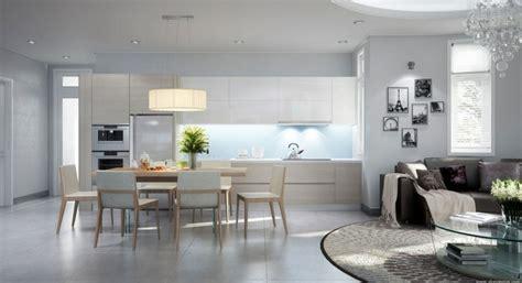 salon cuisine design décoration salon et cuisine ouverte