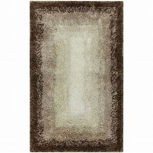 mohawk home ombre border taupe 20 in x 32 in bath rug With mohawk bathroom rugs