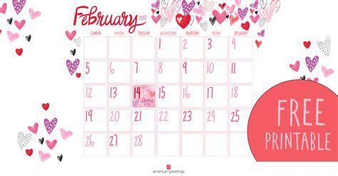 printable february calendar american  blog