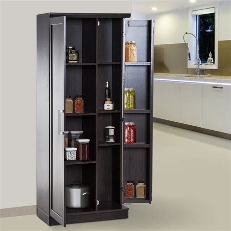 Freestanding Pantry Cupboard by Homcom Wooden Freestanding Kitchen Pantry Cabinet Storage