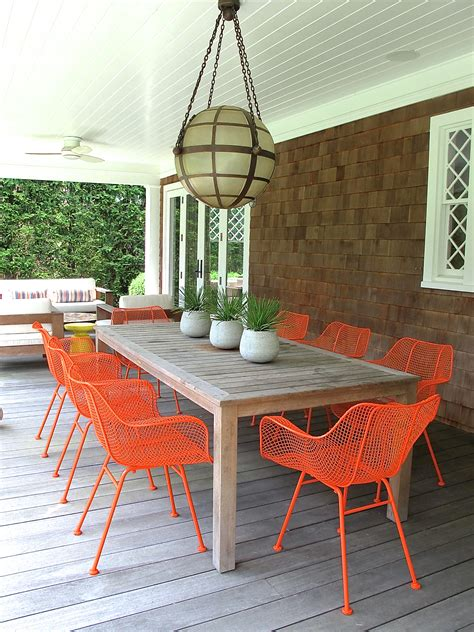chaise de jardin orange painting our outdoor dining chairs domestic domestic