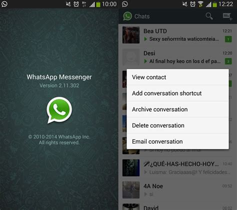 the new version of whatsapp lets you archive conversations on android