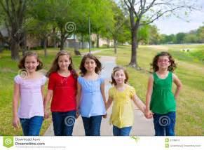 Group of Friends Kids Walking