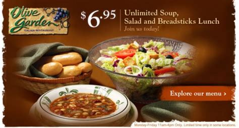 olive garden soup menu olive garden soup and salad review 187 so
