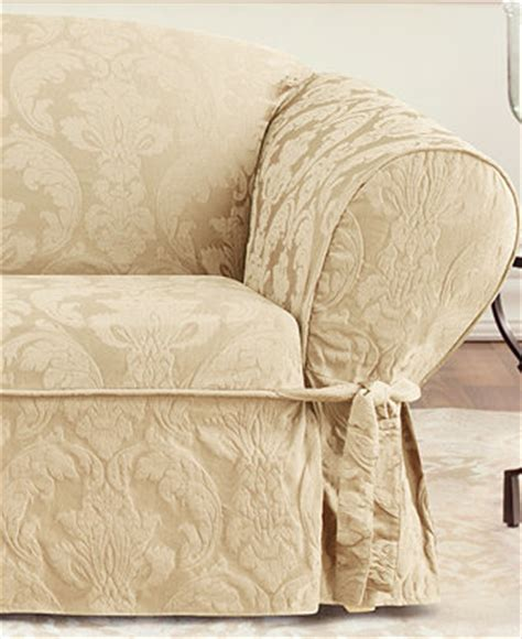 macys sofa covers sure fit matelasse damask slipcover collection
