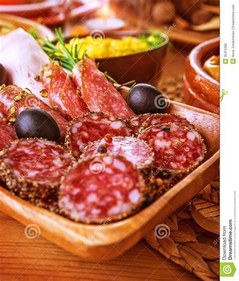 Tasty Cold Cuts Stock Photo   Image: 35415300