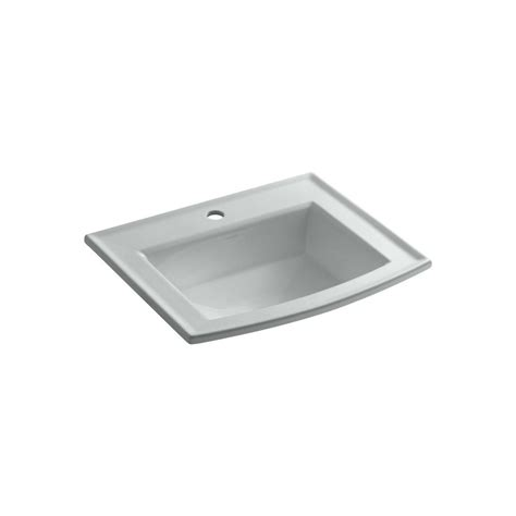 how to make a kitchen sink kohler archer drop in vitreous china bathroom sink in 8738