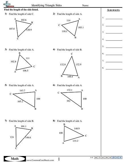 Trigonometry Worksheets  Free Commoncoresheets