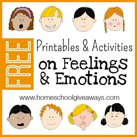 free printables and activities on feelings and emotions sometimes emotions can be really