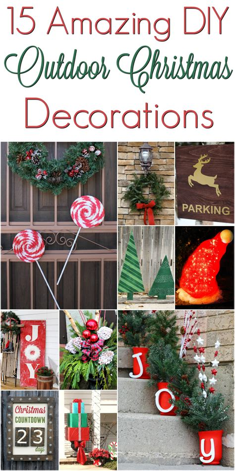 diy christmas outdoor decorations christmasdecorations