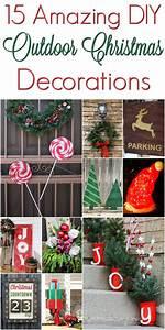 DIY Christmas Outdoor Decorations #ChristmasDecorations