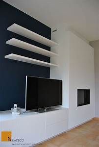 mobilier sur mesure meuble tele habillage cheminee With meuble salon