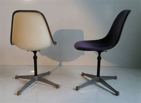 pair of charles and eames adjustable swivel chairs for sale at 1stdibs
