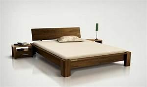 Bois De Lit : lit bois massif design pour chambre a coucher adulte ~ Teatrodelosmanantiales.com Idées de Décoration