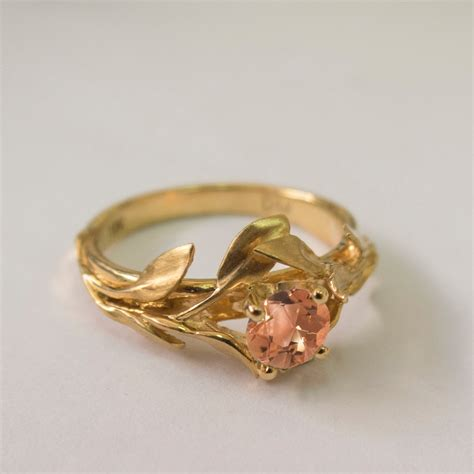 Rings Rings Rings ? Leaves Engagement Ring No. 4   14K Gold and