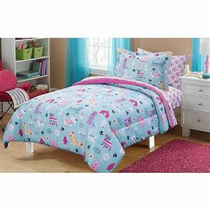 5 Piece Kids Puppies Dogs Comforter Twin, Cute Adorable ...