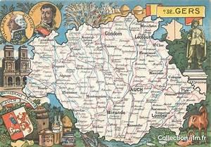 Carte Du Gers Détaillée : cpsm france 32 gers carte geographique 32 gers autres communes 32 ref 74560 ~ Maxctalentgroup.com Avis de Voitures