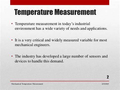 Mechanical temperature measuring devices and their ...