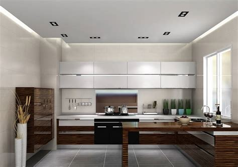 high  luxury kitchen cabinet glossy finish solid wood