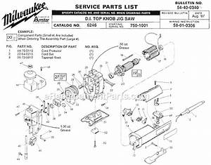 Milwaukee 6246 Parts List And Diagram