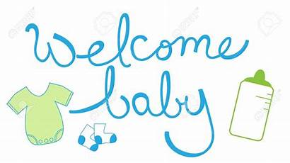 Welcome Boy Clip Clipart Items Lettering Birth